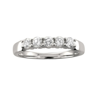 Womens 3mm 1/2 CT. T.W. White Diamond Platinum Wedding Band