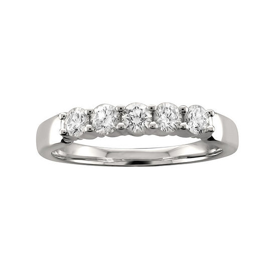 Womens 3MM 1/2 CT. T.W. Genuine White Diamond Platinum Wedding Band
