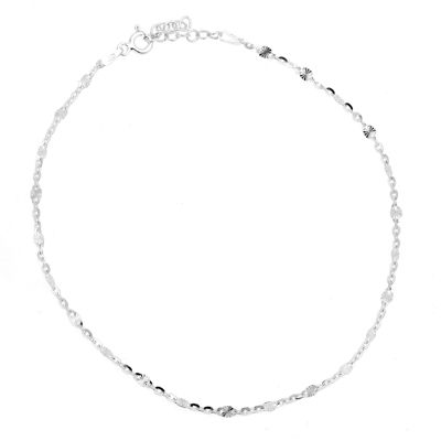 Itsy Bitsy 9 Inch Anklet Womens Sterling Silver Ankle Bracelet