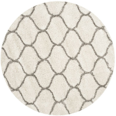 Safavieh Hudson Shag Collection Maria Geometric Round Area Rug