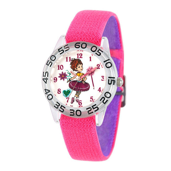 Disney Fancy Nancy Fancy Nancy Girls Pink Strap Watch-Wds000587