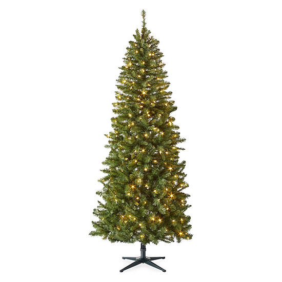 North Pole Trading Co 7 1 2 Foot Andover Pre Lit Christmas Tree