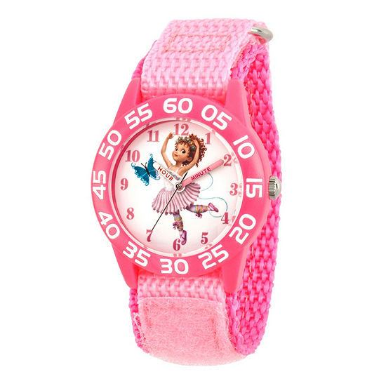 Disney Fancy Nancy Girls Pink Strap Watch-Wds000588