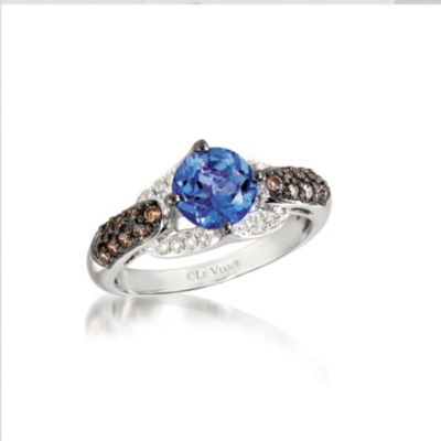 Grand Sample Sale™ By Le Vian® Blueberry Tanzanite® 3/8 CT. T.W. Vanilla Diamonds® & Chocolate Diamonds® 14K Vanilla Gold® Ring