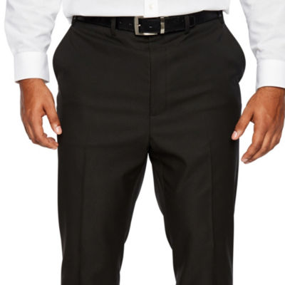 Shaquille O'Neal XLG Black Mens Stretch Regular Fit Suit Pants - Big and Tall