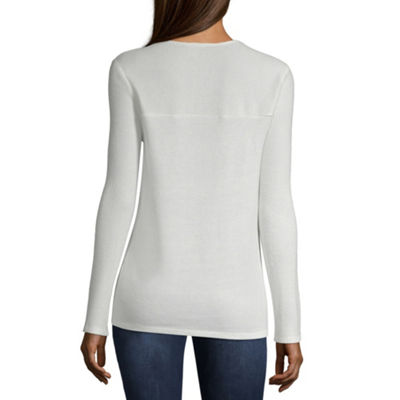by&by Long Sleeve Thermal Top-Juniors