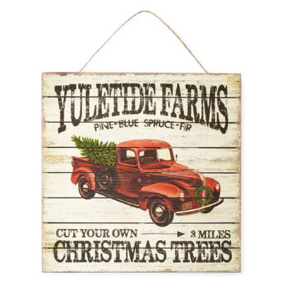 North Pole Trading Co. Yuletide Farms Wall Sign