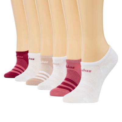 adidas Womens 6Pk Super Lite Super No Show Socks