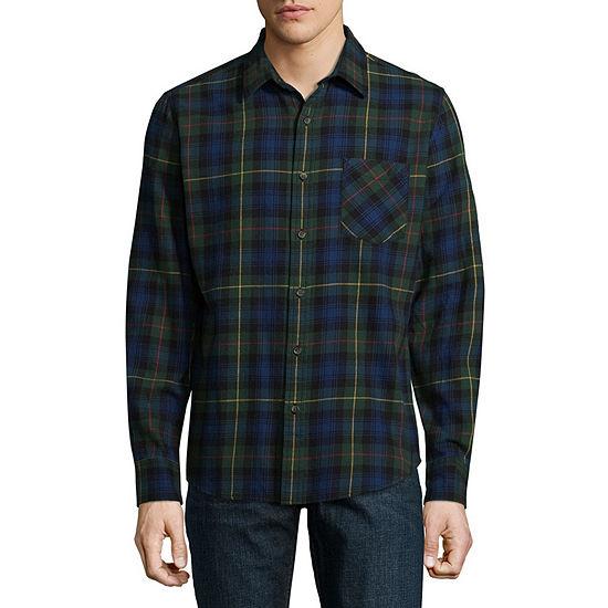 Arizona Mens Long Sleeve Flannel Shirt