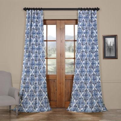 Exclusive Fabrics & Furnishing Tiera Faux Silk Taffeta Blackout Rod-Pocket/Back-Tab Curtain Panel