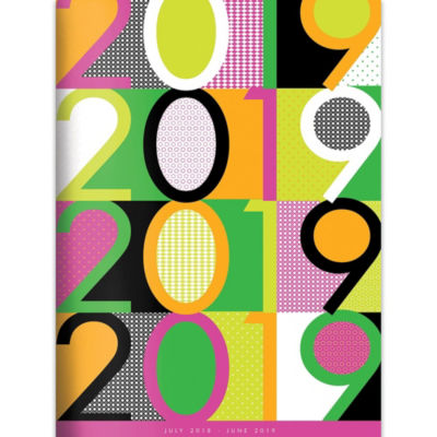 Tf Publishing July 2018 - June 2019 Color Pop Monthly Planner
