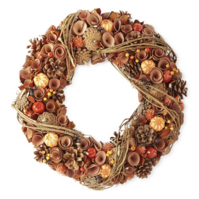JCPenney Home Wood Curl Wreath