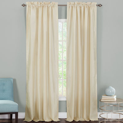 Heritage Landing Faux-Silk 2-Pack Rod-Pocket Curtain Panels
