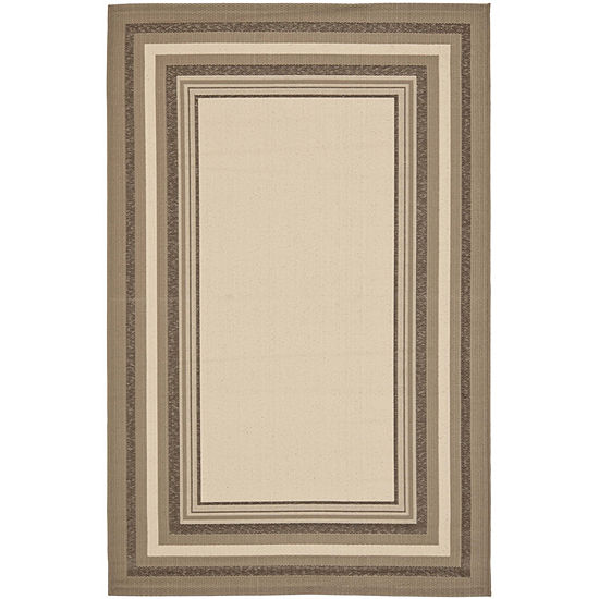 Safavieh Courtyard Collection Saxon Bordered Indoor/Outdoor Area Rug