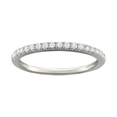 Womens 1/4 CT. T.W. White Diamond Platinum Wedding Band