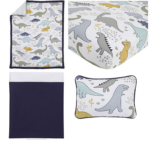 Nojo 4-pc. Dinosaurs Crib Bedding Set