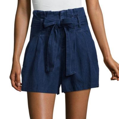 "Tinseltown 2 1/2"" Denim Shorts-Juniors"