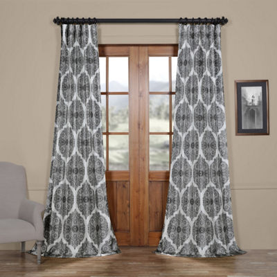 Exclusive Fabrics & Furnishing Royal Faux Silk Taffeta Blackout Rod-Pocket/Back-Tab Curtain Panel