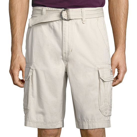 UNIONBAY® Survivor Belted Vintage Cotton Twill Cargo Shorts