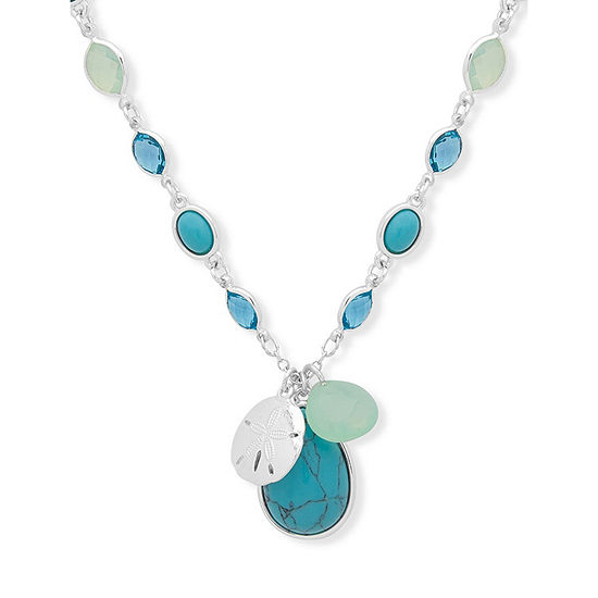 Chaps Womens Pendant Necklace