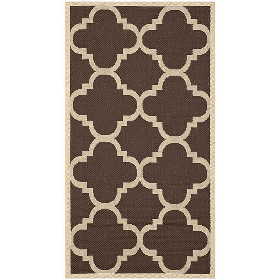 Safavieh Courtyard Collection Gina Geometric Indoor/Outdoor Area Rug