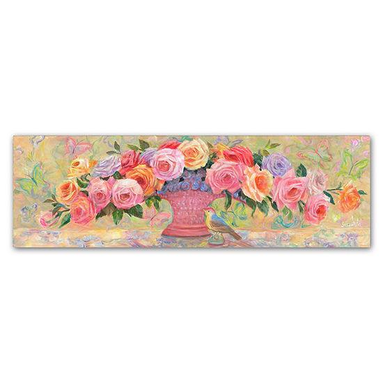 Trademark Fine Art Susan Rios Basket of Roses Giclee Canvas Art