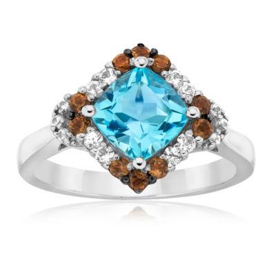 Grand Sample Sale™ By Le Vian® Sea Blue Aquamarine®,Chocolate Quartz® & Vanilla Sapphires™ 14K Vanilla Gold®  Ring