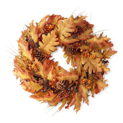 JCPenney Home Autumn Leaves Wreath