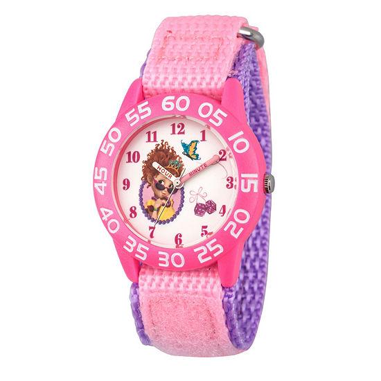 Disney Fancy Nancy Fancy Nancy Girls Pink Strap Watch-Wds000590