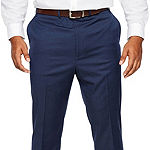 Shaquille O'Neal XLG Blue Solid Mens Stretch Classic Fit Suit Pants - Big and Tall