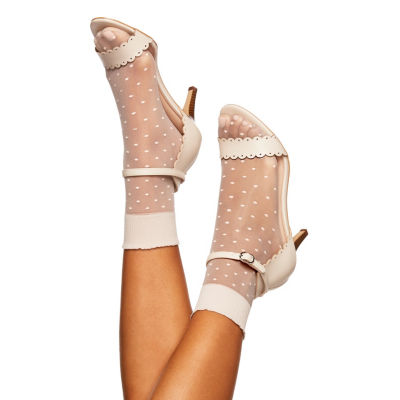 Berkshire Hosiery Sheer Dot Anklet Extended 1 Pair Quarter Socks - Womens