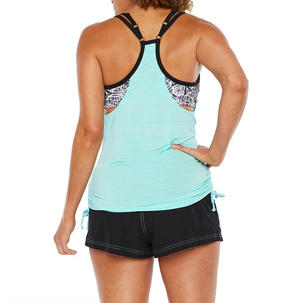 Zeroxposur Pattern Blouson Swimsuit Top