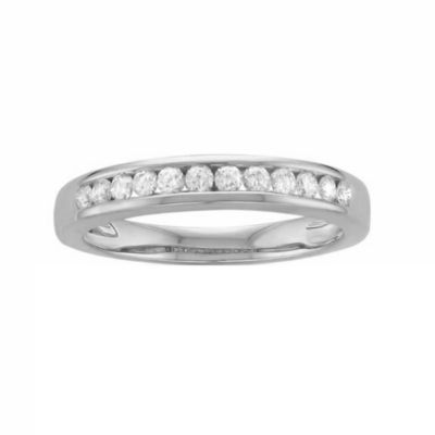 Womens 3mm 1/4 CT. T.W. White Diamond Platinum Wedding Band