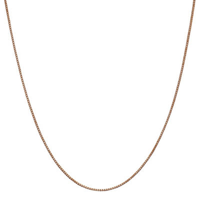 14K Rose Gold 16 Inch Solid Box Chain Necklace