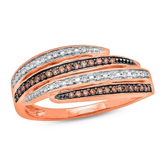 Womens 1 5 Ct Tw Genuine Multi Color Diamond 10k Gold Engagement Ring