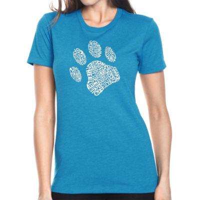 Los Angeles Pop Art Women's Premium Blend Word ArtT-shirt - Dog Paw