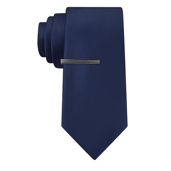 J. Ferrar® Slim Satin Tie