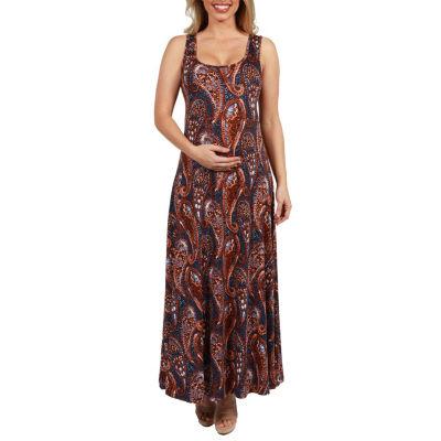 24Seven Comfort Apparel Annie Maternity Maxi Dress