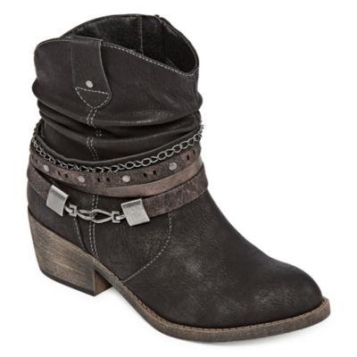 Pop Womens Kinney Dress Boots Block Heel Zip