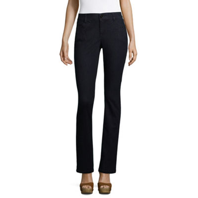 Liz Claiborne Embellished Tapered Leg Flexi Fit Jeans
