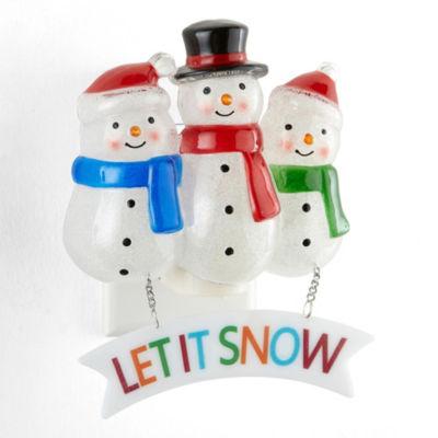 North Pole Trading Co. Triple Snowman Night Light
