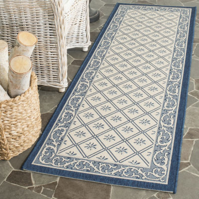 Safavieh Courtyard Collection Vernon Oriental Indoor/Outdoor Runner Rug