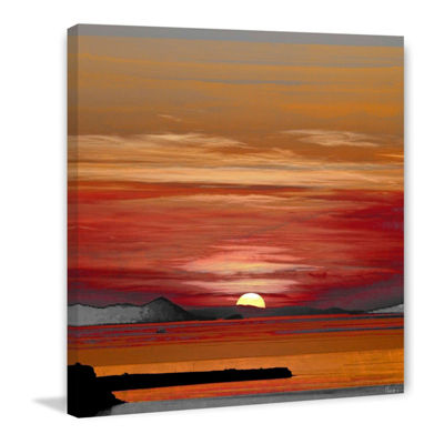 Mykonos Painting Print on Wrapped Canvas