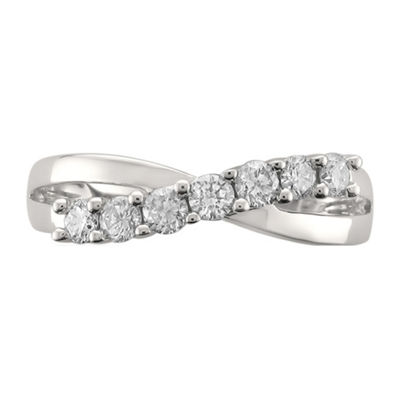 Womens 5mm 1/2 CT. T.W. White Diamond 14K White Gold Wedding Band