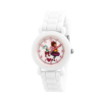 Disney Fancy Nancy Girls White Strap Watch-Wds000593
