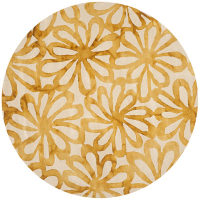 Safavieh Dip Dye Collection Chloe Floral Round Area Rug