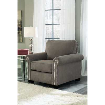 Signature Design By Ashley® Gilman Roll Arm Nailhead Trim Accent Chair