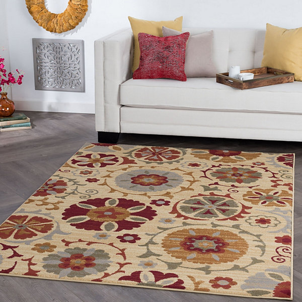 Tayse Suzana Transitional Floral Area Rug