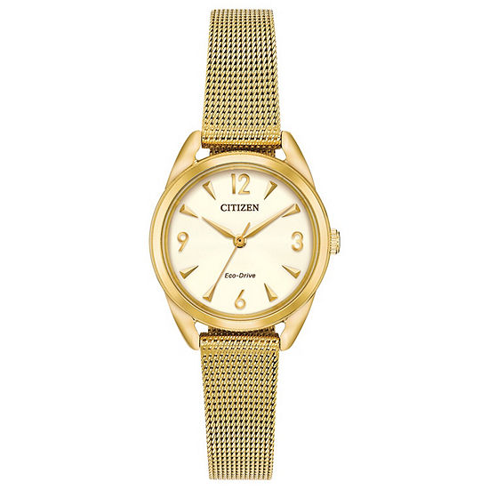 Drive from Citizen Womens Gold Tone Stainless Steel Bracelet Watch-Em0682-58p