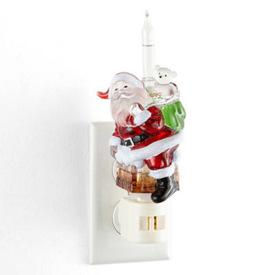 North Pole Trading Co. Santa Bubble Night Light